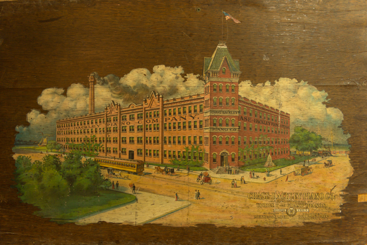 The Chase Hackley Piano Factory, as it looked when it debuted at the turn of the 20th century.