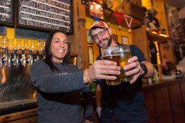 Pigeon Hill Brewing Company owner Michael Brower and his wife, Alana, the taproom manager.