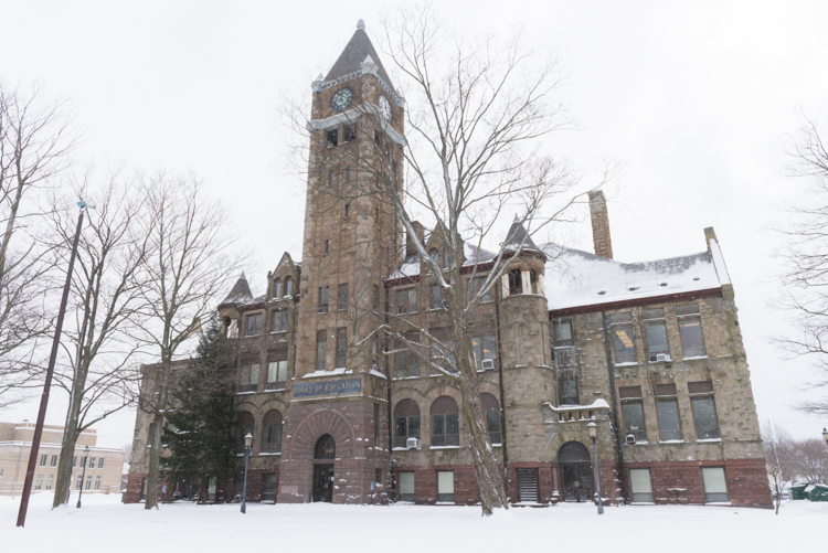 The Hackley Administration Building.