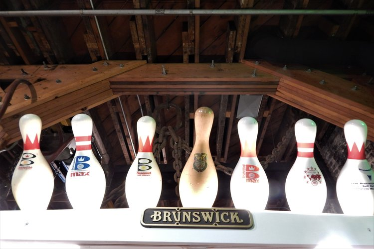 Brunswick bowling pins manufactured in Muskegon.